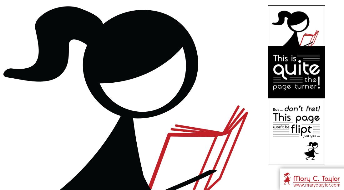 Flipt Pictures Girl Bookmark Illustration