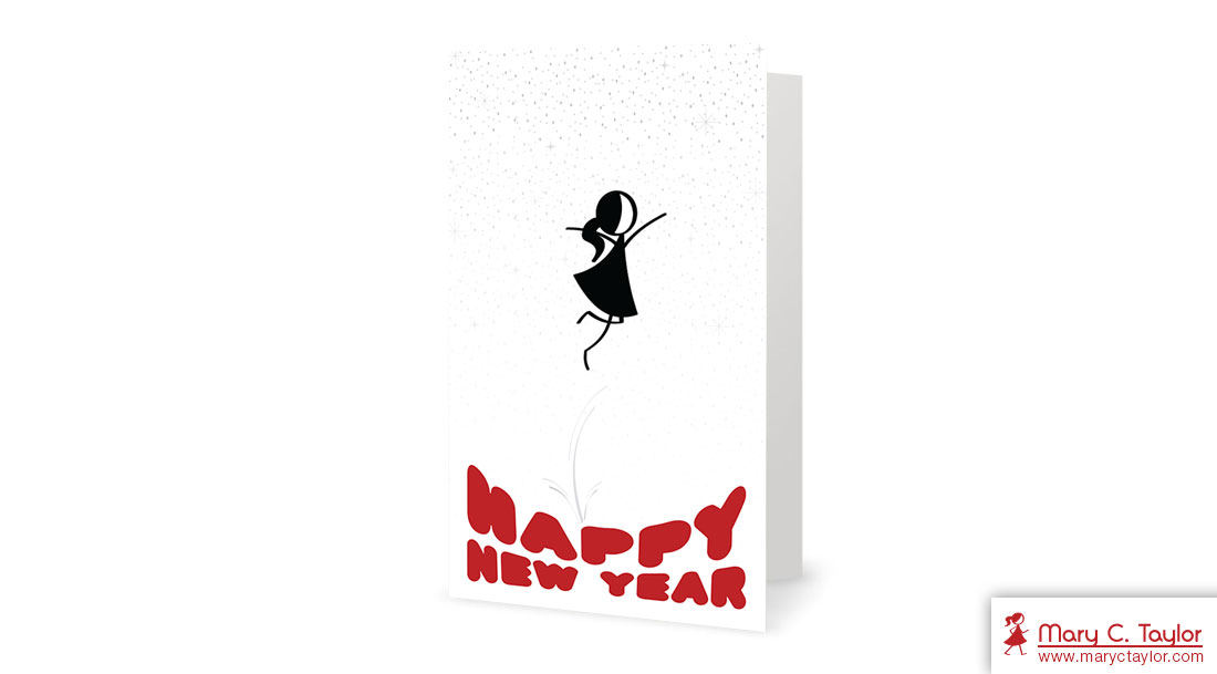 2015 happy new year greeting card illustration