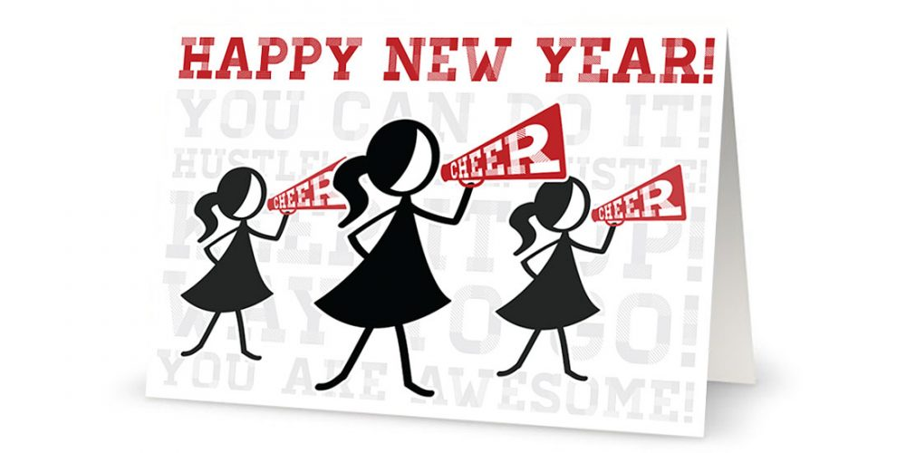 Happy New Year Greeting Card Illustration Feature